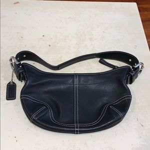 Coach handbag leather